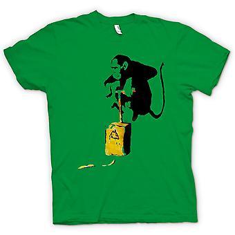 Mens T-shirt - Banksy Graffiti - Monkey Bomber