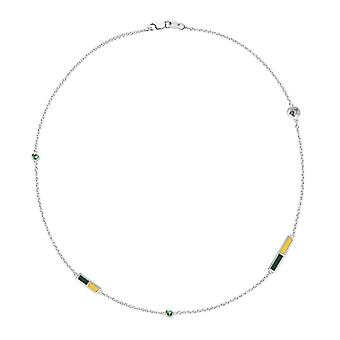 University of Vermont Emerald Chain Necklace In Sterling Silver Design by BIXLER