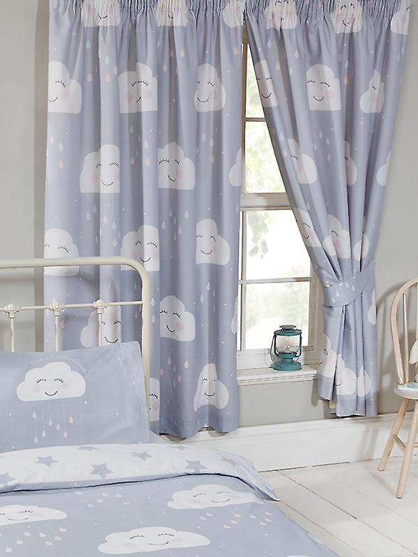 Happy Clouds Lined Curtains