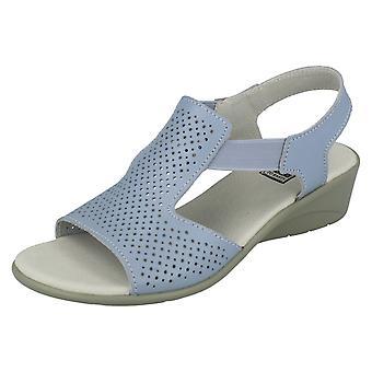 Ladies jordnära casual kil sandaler