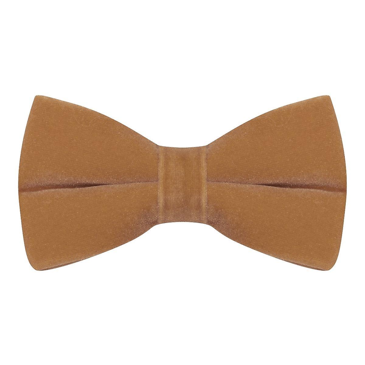 Luxury Tawny Brown Velvet Bow Tie