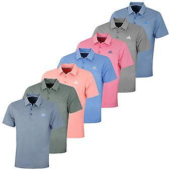 adidas Golf Mens Ultimate 2.0 Novelty LC Polo Shirt