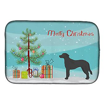 Carolines Treasures  CK3837DDM Black Goldador Christmas Tree Dish Drying Mat