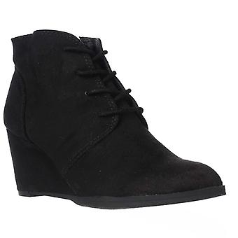 American Rag Baylie Lace-Up Wedge Booties Black Size 10.5M