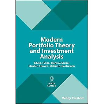 Teoría moderna de la cartera y análisis de inversiones