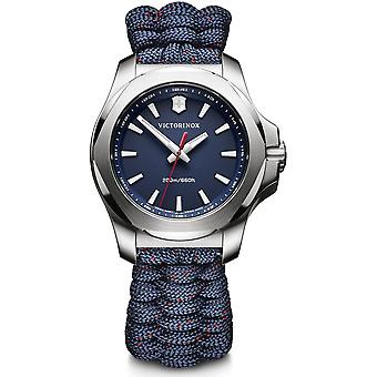 Victorinox I.N.O.X V Blue Paracord Silver Stainless Steel Quartz Ladies Watch 241770