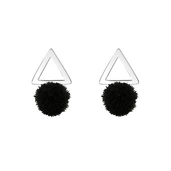 Triangle - 925 Sterling Silver Colourful Ear Studs - W37052x