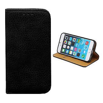 iPhone 8 Plus and 7 Plus Leather Case Black - Bookcase