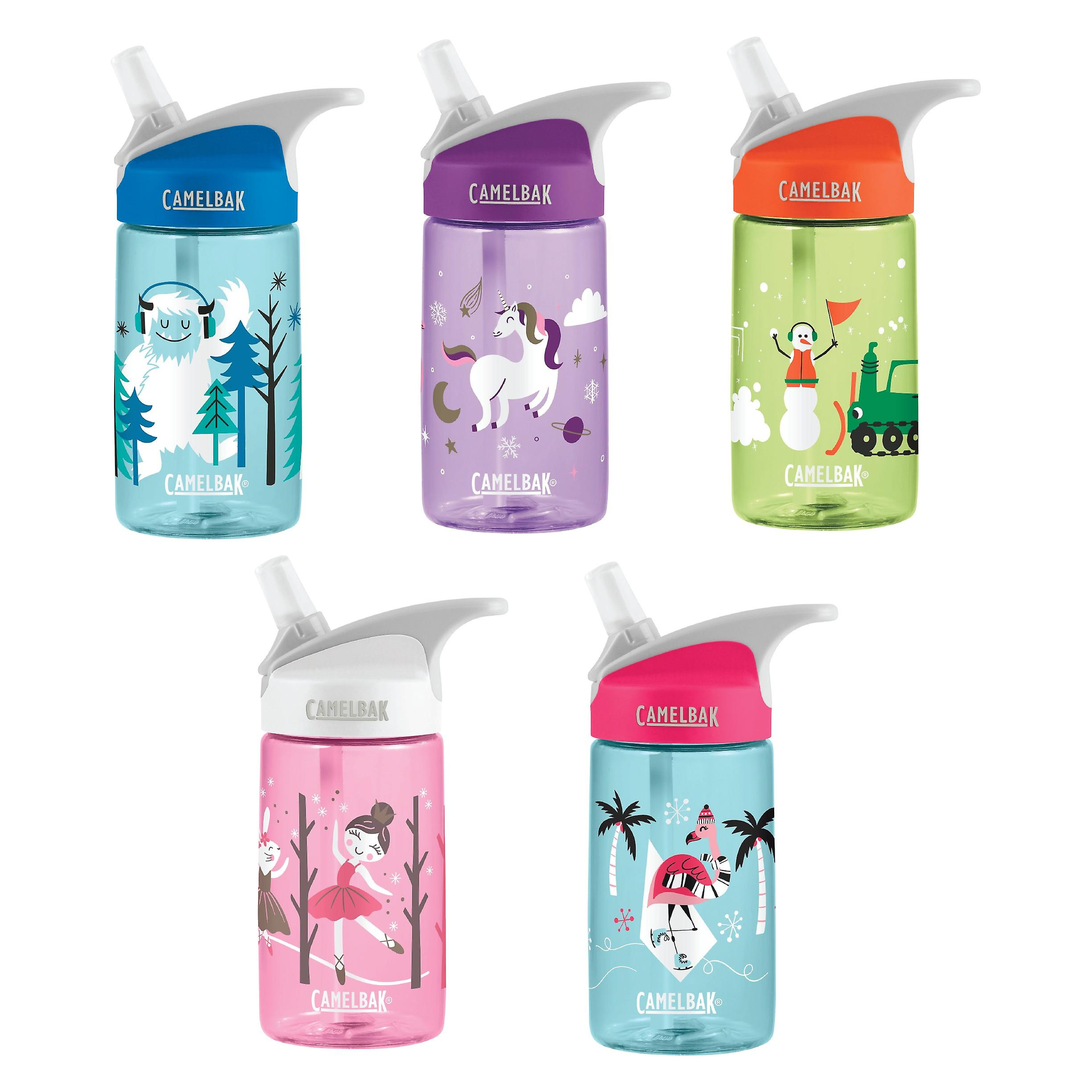 Camelbak Eddy Kids 400ml/12oz spill proof water bottle - Limited Holiday edition