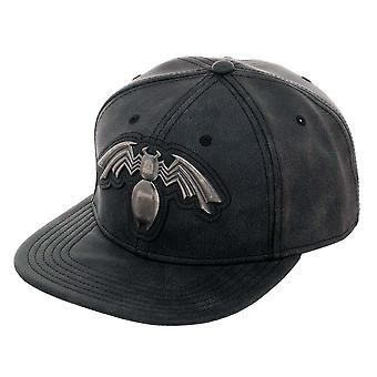 Veneno agobiados Metal negro del sombrero del Snapback
