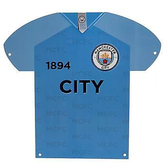 Manchester City FC Shirt geformt Metall Zeichen