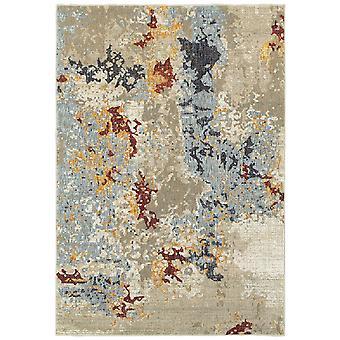 Evolution 8043k beige/ blue indoor area rug rectangle 3'3