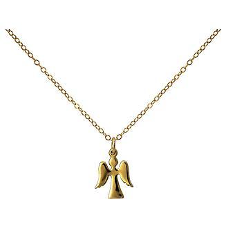 Gemshine halsband hänge Angel Guardian Angel 925 silver, guldpläterad eller ros 1,5 cm