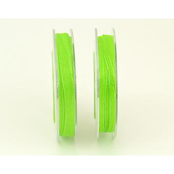 10m Lime Green 3mm Wide Organza Craft Ribbon | Ribbons & Bows for Crafts