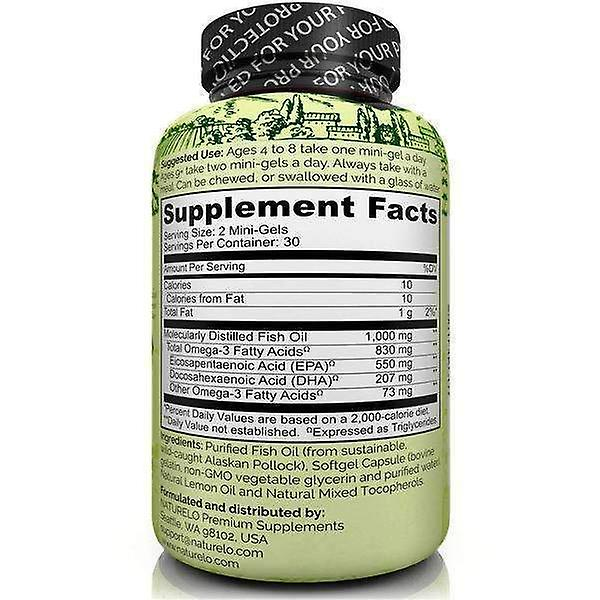 Omega-3 fiskeolie - 830mg triglycerid per portion - mini geler