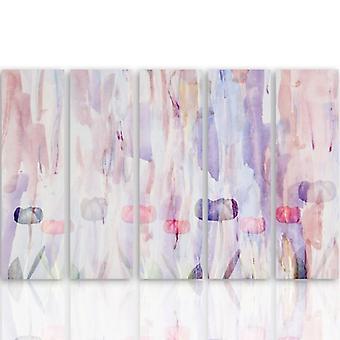 Immagine a cinque parti su tela, Pentaptych, Tipo C, 1 Sommario Pastello