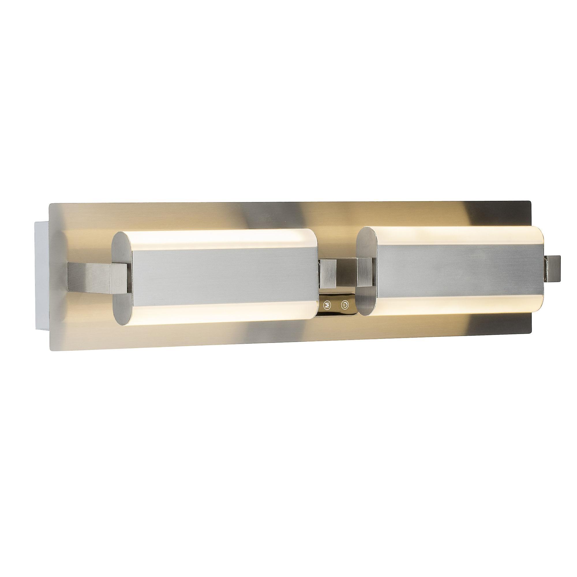 BRILLIANT Lampe NEXT LED Wandleuchte 2flg eisen Elemente schwenkbar I mit Touchdimmer / Lichtfarbe einstellbar
