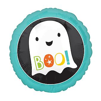 Anagram 18 Inch Boo Ghost Circle Foil Balloon