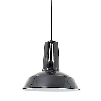 Hanging Lamp Inez Big Epoxy Black
