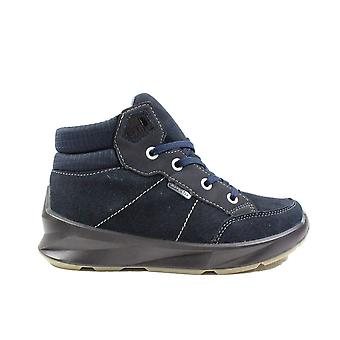 Ricosta Preston 9800400-180 Navy Nubuck Leather Boys Lace Up Waterproof Ankle Boots