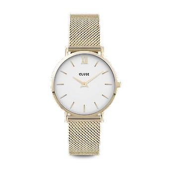 CLUSE Minuit Gold PVD Stainless Steel White Dial Ladies Watch CW0101203007