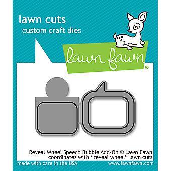 Lawn Cuts Custom Craft Die-Reveal Wheel Speech Bubble