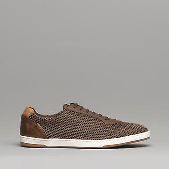 Base London Hustle mens mesh trenere Brown