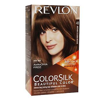 Revlon colorsilk beautiful color, medium golden brown 43, 1 ea