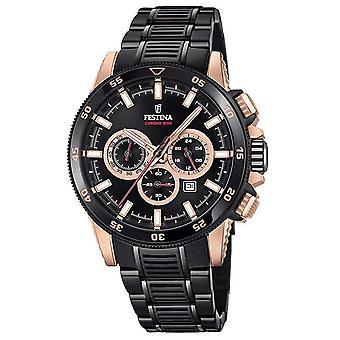 Festina F20354-1 Men's Chrono Bike Black Bracelet Wristwatch
