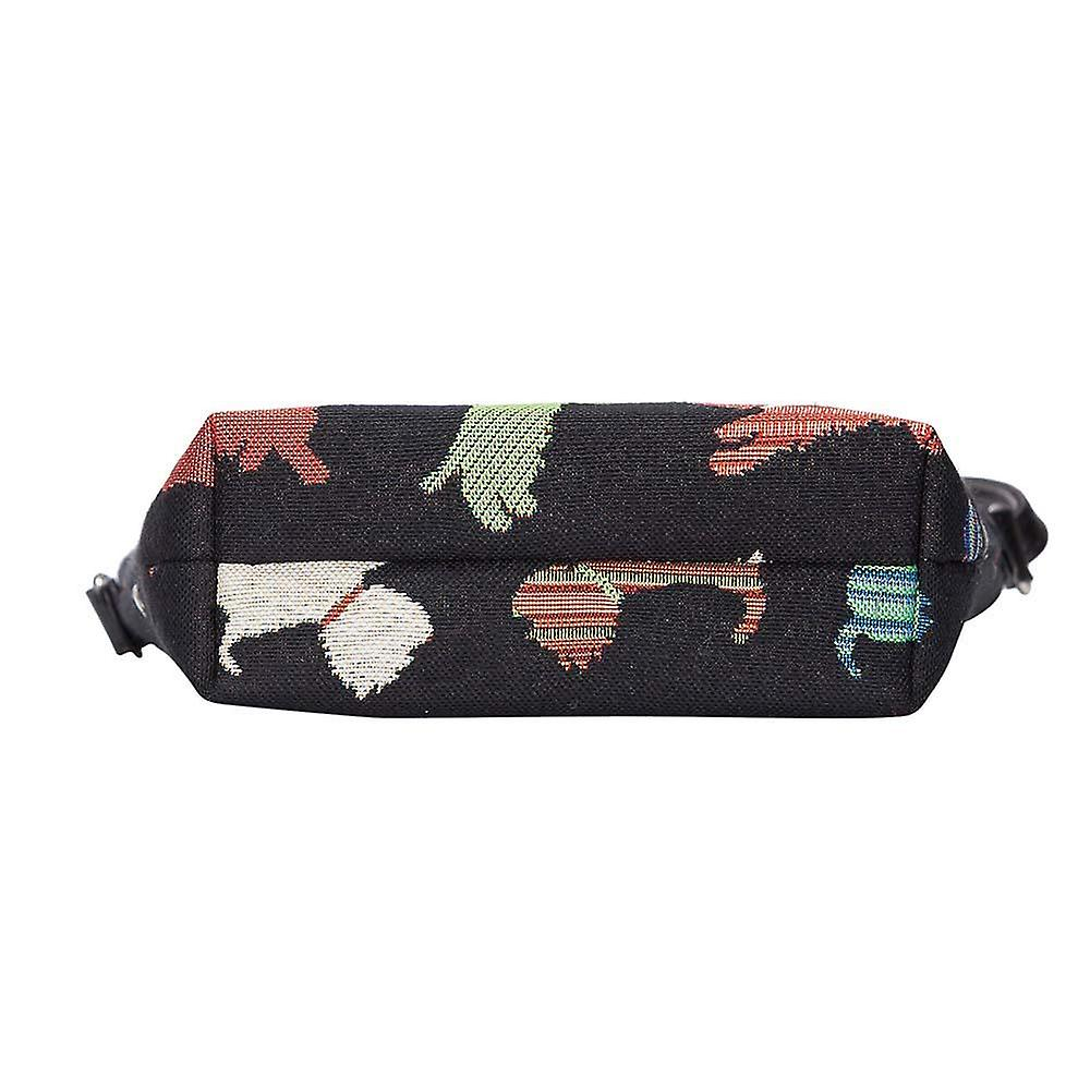 Playful puppy shoulder sling bag by signare tapestry / sling-puppy