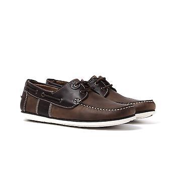 Barbour Capstan Beige/Brown Boat Shoes
