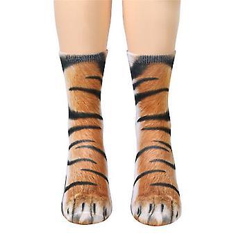 Dierlijke sokken-vrouwen volwassen Unisex-Tiger