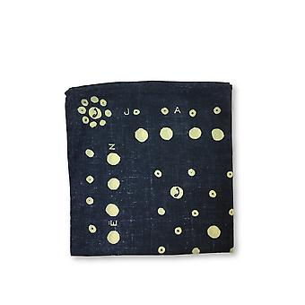 Jacob Cohen Pocket Square in navy and beige dot design