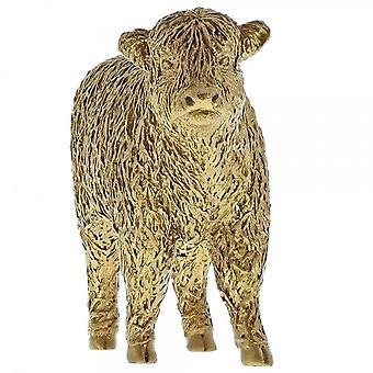 Border Fine Arts Highland kalf gouden koe beeldje