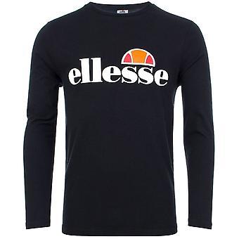 エレッセ Sl グラツィエ ロングスリーブ ブラック コットン Tシャツ