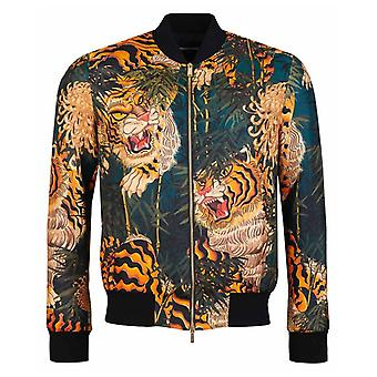 Dsquared2 Printed Tiger Bamboo Bomber Jacket