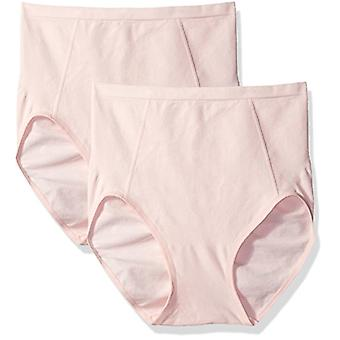 Bali Women's Shapewear Seamless Brief Ultra Control 2-Pack, Blushing Pink/Blu...