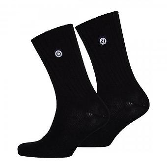 Superdry University 2 Pack Socks Black 16A