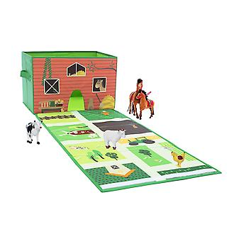 Achoka Play & Store 2 in 1 Farm Playmat and Storage Box