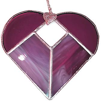 Simmerdim Design Five Section Heart Purple & White