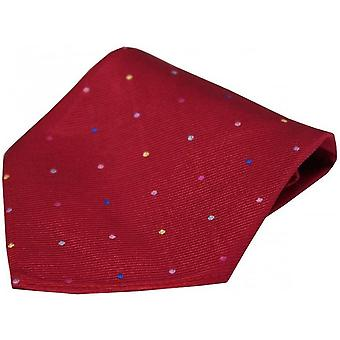 David Van Hagen Pin Dots Silk Handkerchief - Red/Multi-colour