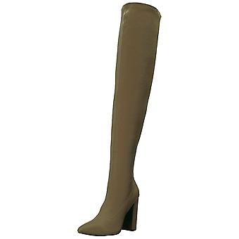 Qupid Womens SIgnal-20 Pointed Toe Over Knee Fashion Boots