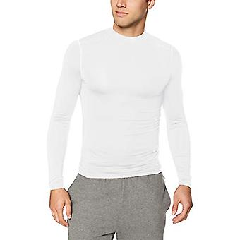 Starter Men's Compression Mockneck Top, Amazon Exclusive,, White, Size Large