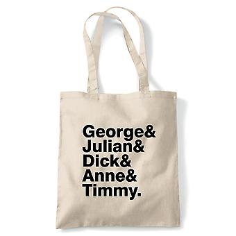 The Famous Five, Tote - World Book Day Reusable Canvas Bag Gift