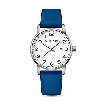 Reloj análogo de Wenger para hombre de cuarzo con correa de silicona 01.1641.107