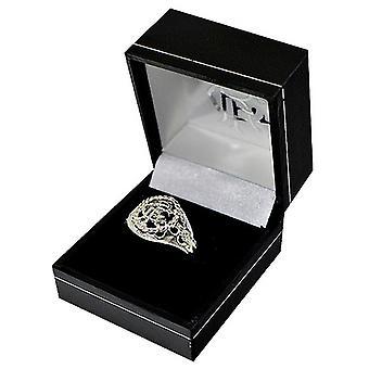 Rangers FC Medium Silver Plated Crest Ring