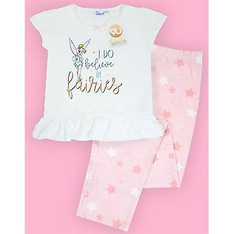 Disney Girls Tinkerbell și Moana Long 2 Pack Pijamale Bundle