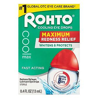 Rohto maximum redness relief cooling eye drops, 0.4 oz