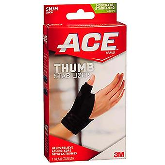 3m ace brand thumb stabilizer, small/medium, moderate, black, 1 ea