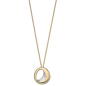 Fiorelli Gold Plated & Satin Silver Organic Sculpted Pendant